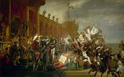 Army Painting - The Army Takes An Oath To The Emperor After The Distribution Of Eagles, 5 December 1804 by Jacques-Louis David