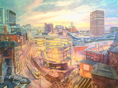 Painting - The Arndale Carpark, Manchester by Rosanne Gartner