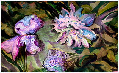 Mums Painting - The Arrangements by Mindy Newman
