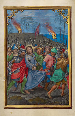 Catholic For Sale Painting - The Arrest Of Christ by Simon Bening