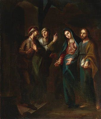 Painting - The Arrival At Bethlehem by Miguel Cabrera