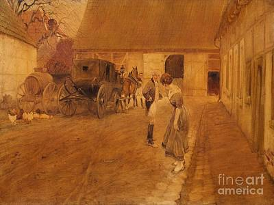 The Arrival At The Tavern Art Print
