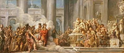 Aeneas Painting - The Arrival Of Aeneas In Carthage by MotionAge Designs