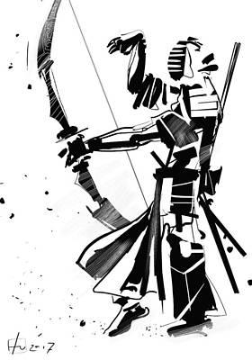 Digital Art - The Arrow Whisperer by Fabrizio Uffreduzzi