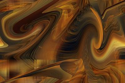 Digital Art - The Art Abstract by rd Erickson