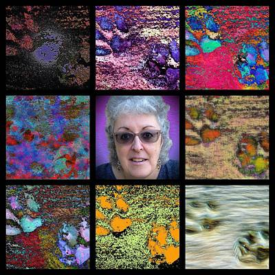 Digital Art - The Art And The Artist Barnie Paw Print Designs by Dorothy Berry-Lound