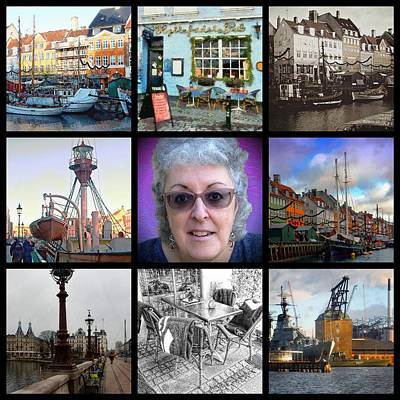 Digital Art - The Art And The Artist Copenhagen by Dorothy Berry-Lound