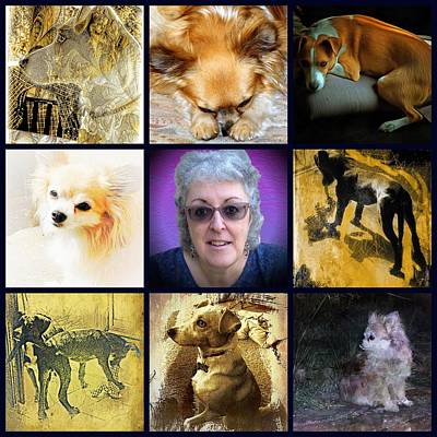 Digital Art - The Art And The Artist Dogs by Dorothy Berry-Lound