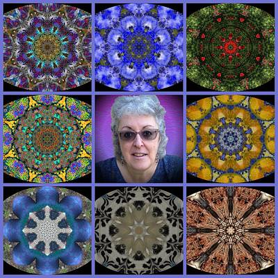 Digital Art - The Art And The Artist Kaleidescopes by Dorothy Berry-Lound
