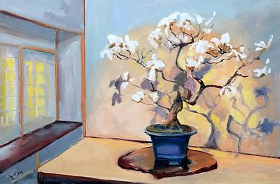 Painting - The Art Of Bonsai - Bonsai Tree by Donna Tuten