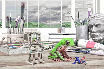 Surrealism Digital Art - The Art of Conversation by Betsy Knapp