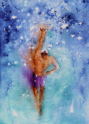 Painting - The Art Of Freestyle Swimming by Miki De Goodaboom