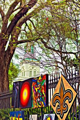 Fleur De Lis Photograph - The Art Of Jackson Square - Paint by Steve Harrington
