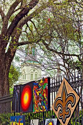 Fleur De Lis Photograph - The Art Of Jackson Square by Steve Harrington