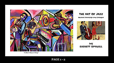 Wynton Marsalis Mixed Media - The Art Of Jazz - Page 1 - 2 by Everett Spruill