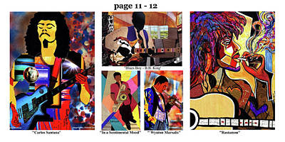 Mixed Media - The Art Of Jazz - Page 11 - 12 by Everett Spruill