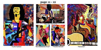 Wynton Marsalis Mixed Media - The Art Of Jazz - Page 11 - 12 by Everett Spruill