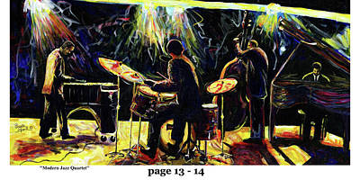 Mixed Media - The Art Of Jazz - Page 13 - 14 by Everett Spruill