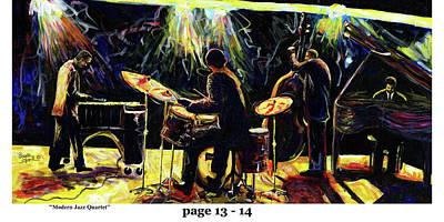 Wynton Marsalis Mixed Media - The Art Of Jazz - Page 13 - 14 by Everett Spruill