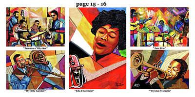Wynton Marsalis Mixed Media - The Art Of Jazz - Page 15 - 16 by Everett Spruill