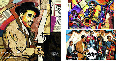 Mixed Media - The Art Of Jazz - Page 17 - 18 by Everett Spruill