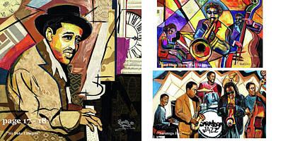 Wynton Marsalis Mixed Media - The Art Of Jazz - Page 17 - 18 by Everett Spruill