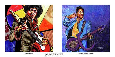 Wynton Marsalis Mixed Media - The Art Of Jazz - Page 21 - 22 by Everett Spruill