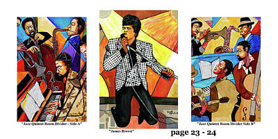 Wynton Marsalis Mixed Media - The Art Of Jazz - Page 23 - 24 by Everett Spruill