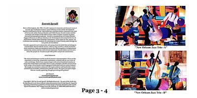 Wynton Marsalis Mixed Media - The Art Of Jazz - Page 3 - 4 by Everett Spruill
