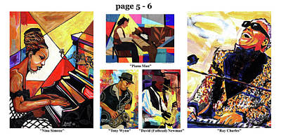 Mixed Media - The Art Of Jazz - Page 5 - 6 by Everett Spruill