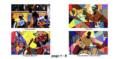 Wynton Marsalis Mixed Media - The Art Of Jazz - Page 7 - 8 by Everett Spruill