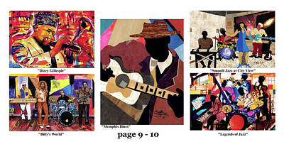 Mixed Media - The Art Of Jazz - Page 9 - 10 by Everett Spruill