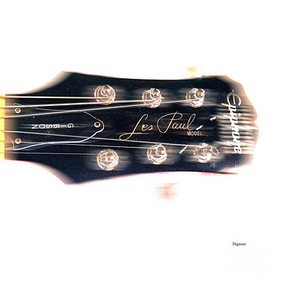 Epiphone Guitars Photograph - Les Paul Epiphone  by Steven Digman