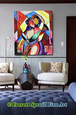 Wynton Marsalis Mixed Media - The Art Of Love by Everett Spruill