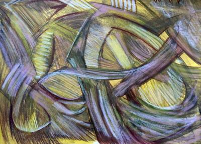 Contemporary Abstract Drawing - 'the Art Of Making A Point' by Kelly K H B