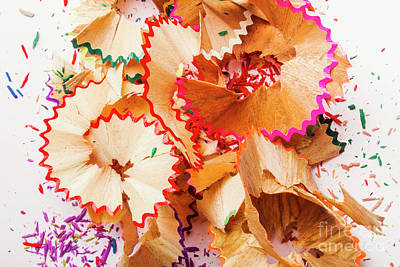 Colored Pencil Wall Art - Photograph - The Art Of Pencil Shavings by Jorgo Photography - Wall Art Gallery