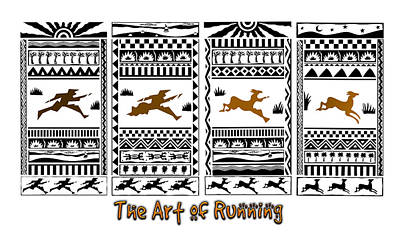 Painting - The Art Of Running by Phil Dynan