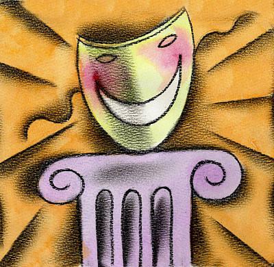 The Art Of Smiling Art Print by Leon Zernitsky