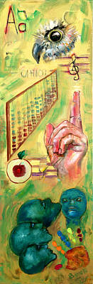 Painting - The Art Of Teaching by Peter Bonk