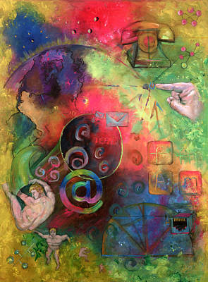 Painting - The Art Of The Net by Peter Bonk