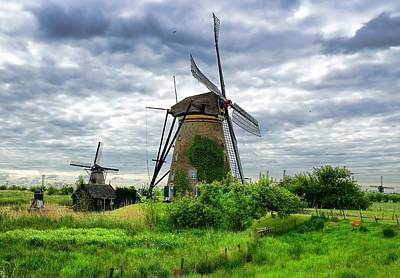 The Art Of Windmills  Art Print