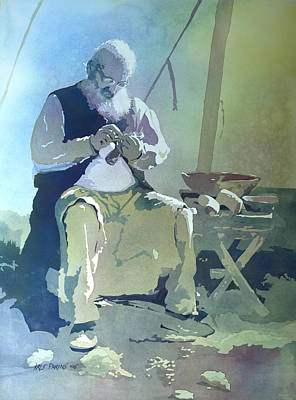 Carver Painting - The Artisan by Kris Parins