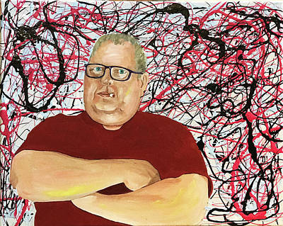 Painting - The Artist As Jackson Pollock by Kevin Callahan