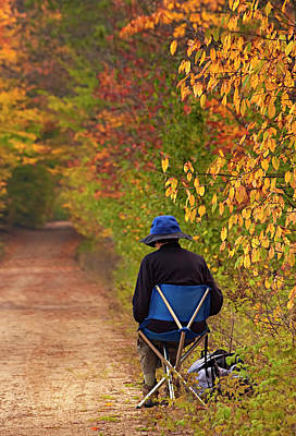 Artist Working Photograph - The Artist In Autumn by Mitch Spence