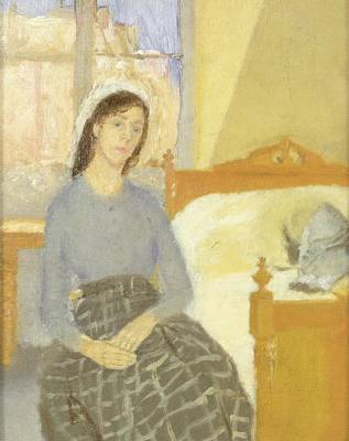 Portraits Painting - The Artist In Her Room In Paris by Gwen John