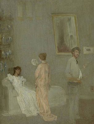 Artist At Work Painting - The Artist In His Studio by James Abbott McNeill Whistler