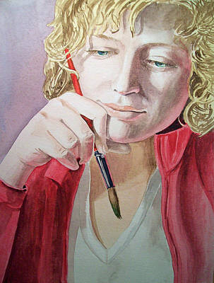 Portrait Commissions Painting - The Artist by Irina Sztukowski