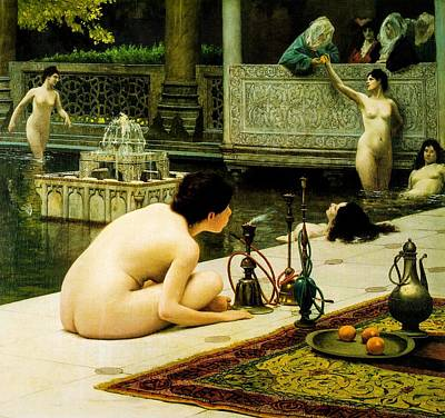 The Artist Of Narghile Art Print by Jean Leon Gerome