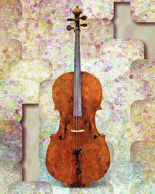 Mixed Media - The Artist's Cello by Georgiana Romanovna