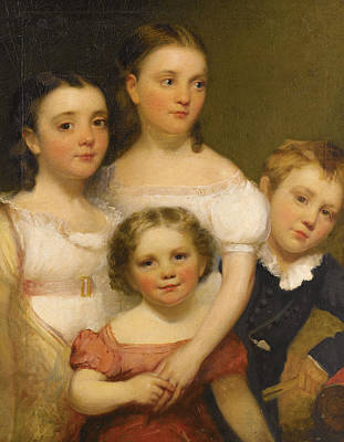 Painting - The Artist's Children by Chester Harding